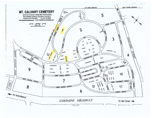 Mt Calvary Available Grave Sections