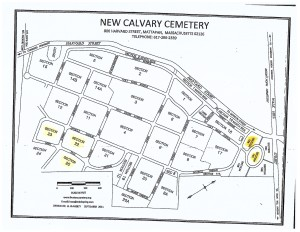 New Calvary Available Grave Sections