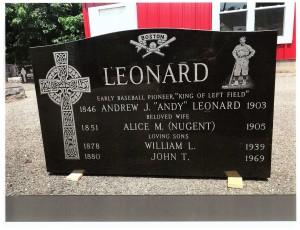 Leonard monument front